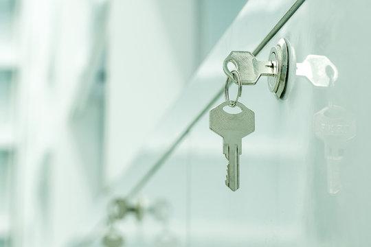 Soft focus Key cabinet locks