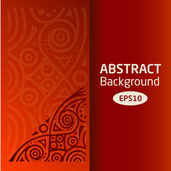 brown vector abstract African background pattern