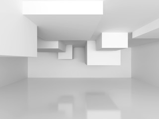 Abstract Architecture Modern Empty Room Interior Background
