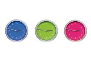 Reloj de tres colores