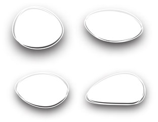 White oval backgrounds set.