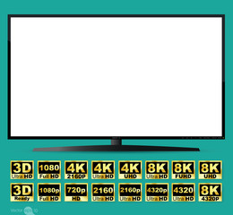 High definition digital television screen