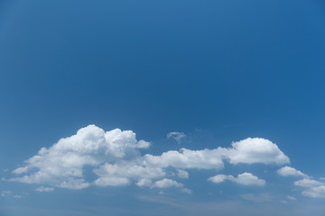 Vibrant blue sky with beautiful white cloud