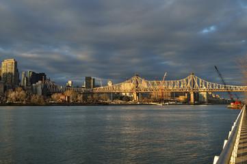 Queensboro Bridge at sunset.