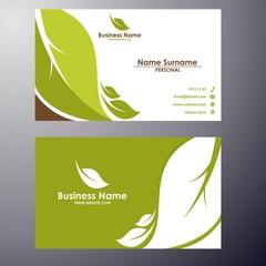 leaf business card template design