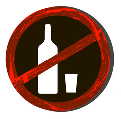 No drink alcohol icon. No drink alcohol icon art. No drink alcohol icon web.