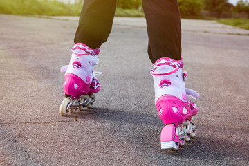 rollerblading on a sunny day
