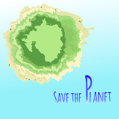 Think Green. Ecology Concept. Save our planet