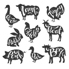 Farm Animals Vintage Stamp Collection