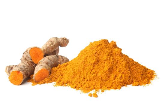 Turmeric rhizome and powder
