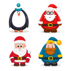 Set Christmas Characters