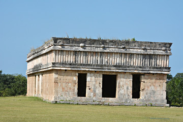 The house of turtles in ancient Mayan site Uxmal, Mexico.