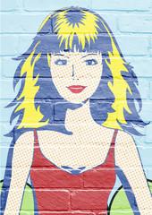 Art urbain, jeune femme