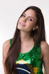 Portrait of a young Brazilian woman