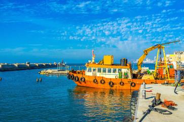 The industrial fishing in Tel Aviv