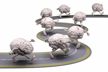 human brains that runs in the street