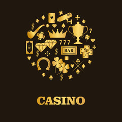 Card template for poker club, casino. Poker or game club or casi