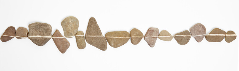 Estores personalizados com paisagens com sua foto Linie auf Steinen als Symbol für Zen