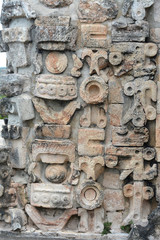 Details of Mayan Puuc Architecture Style - Uxmal, Mexico.