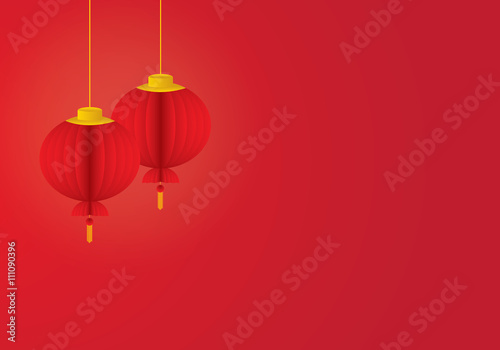 chinese lantern template vector illustration stock image and