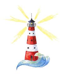 Watercolor anchor icon
