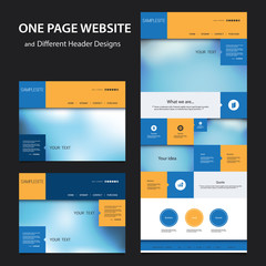 One Page Website Design Template for Your Business