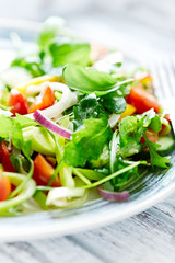 Green Summer Salad with Cherry Tomatoes