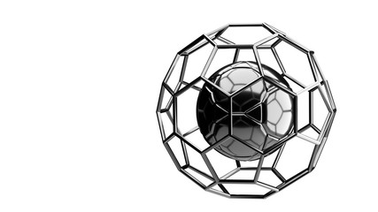 Football chrome structure broadcast background 3d rendering