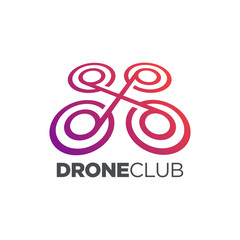 Drone Quadrocopter. Drone Symbol. Visual Photography. Aerial View