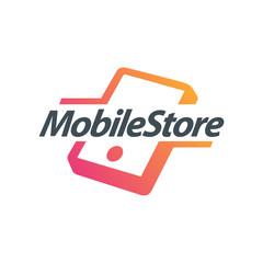 Mobile Phone Logo. Creative Design. Mobile accessories