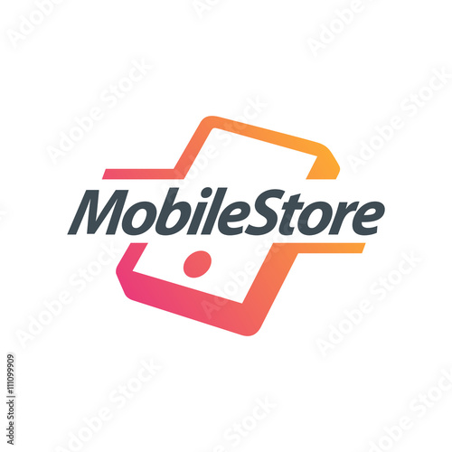 mobile phone logo creative design mobile accessories stock image