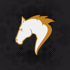 Horse head stylized vector illustration