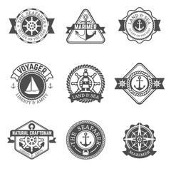 Nautical Isolated Label Set
