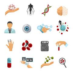 Nanotechnology Colored Icon Set