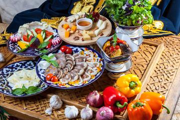Oriental cuisine appetizers