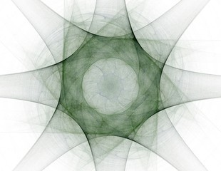 Geometry of Space series. Visually attractive backdrop made of conceptual grids curves and fractal elements suitable as element