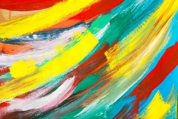 """Gemälde """"Neue Farben"""" (Ausschnitt) von Carola Vahldiek (Gouache-Farben auf Papier)"""