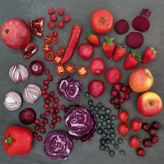 Red and Purple Health Food