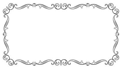 Decorative black frame.