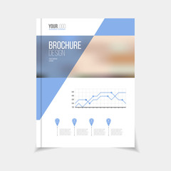Vector brochure template. Annual report cover design.