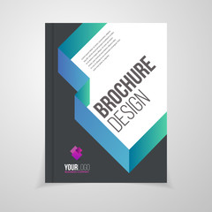 Vector brochure template. Annual report cover design. Catalog or