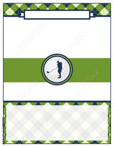 Golf tournament flyer blank template stock image and for Golf tournament budget template