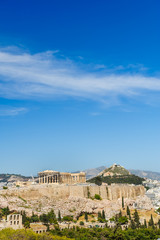 Canvas Prints Athens Acropolis in rays of sunset