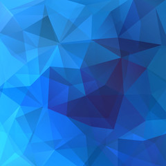 Geometric pattern, polygon triangles vector background in blue triangles
