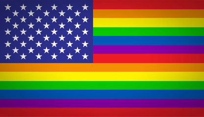 Vector modern lgbt flag background. type of sexual minorities