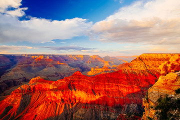 Fotorolgordijn Canyon Mather Point, View Point, Grand Canyon National Park, Arizona, U