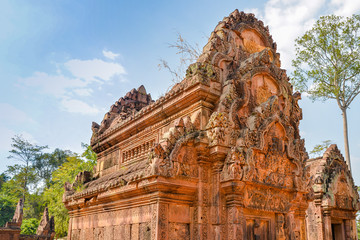Banteay Srei, a 10th century temple dedicated to the Hindu god Shiva - Angkor, Cambodia