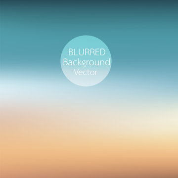 blurred background sunset on the beach vector