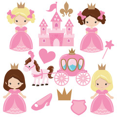 Cute princess vector illustration