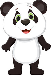 Cute panda cartoon standing